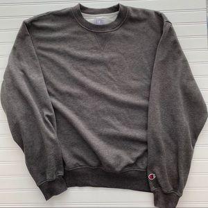 CHAMPION |L| Grey Crewneck Vintage Dad Sweatshirt